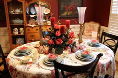 A Valentine-y Dining Room Tour
