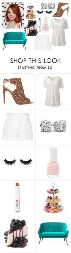 """Dona Barbara"" by de-garbelini ❤ liked on Polyvore featuring Alexandre Birman, Lands' End, Elie Saab, Charlotte Russe, W3LL People and plus size clothing"
