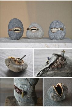 Rock Art by Hirotoshi Ito. Definitely different