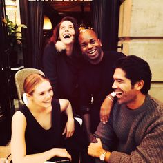 Drinks with Brian and Julius at Hôtel Costes - Photo: Courtesy of Elizabeth Olsen