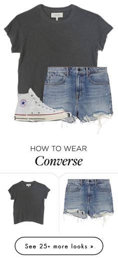 """""""come here baby cuz you got three strikes"""" by elysianemma on Polyvore featuring The Great, Alexander Wang and Converse"""