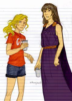 Annabeth and Reyna at Camp Jupiter!