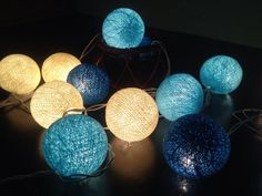 Cotton Ball Lights for home decorationwedding by fairylighting