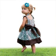 Girls Jumper Dress & Top with Bow Sash Pattern