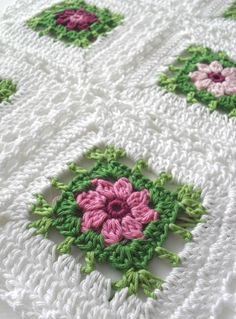 Flower square blanket (diagram) on anazard blog