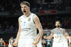 Luka Doncic, #7 guard of Real Madrid during the 2017/2018 Turkish Airlines Euroleague Play Off Leg Four between Real Madrid v Panathinaikos Superfoods Athens at WiZink Center on April 27, 2018 in Madrid, Spain.