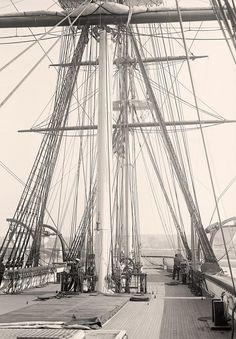 Mast of USS Constellation, 1914