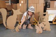 Cardboard Woodland Creatures