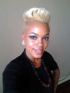 rockin short blond hair  Kimberly Wilson herself of   Dana Chanel Salon in New Orleans, LA