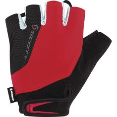 Scott Aspect Bicycle Gloves in Black and Red
