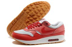 cheap for discount 74ae6 757a2 White Red Nike Air Max 1 Men s Shoes  Red  Womens  Sneakers Nike Air