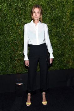Nadja Bender in classic black and white at the Chanel TFF Artists Dinner