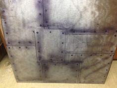Practicing airbrushed rivet's and patch work. Bike Cog, Easy Skull Drawings, Basement Doors, Rusty Metal, Airbrush Art, Metal Walls, Backsplash, Metals, Christmas Ideas