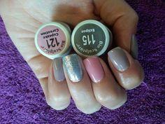 Bio sculpture pink and grey nails Bio Sculpture Gel Nails, Gel Color, Colour, Gray Nails, Uv Gel Nails, Nails Inspiration, Cute Nails, Hair And Nails, Nail Art Designs