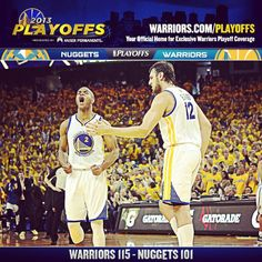 The #Warriors took a commanding 3-1 series lead with tonights 115-101 win over the @Denver Niccole Nuggets on #WarriorsGround. Full recap at warriors.com/gameday