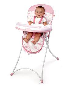 Bright Starts Pretty in Pink Blossomy Blooms High Chair by Bright Starts #zulily #zulilyfinds