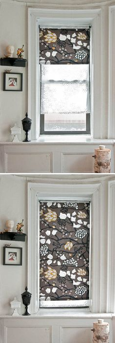 DIY roller blinds- something for our bathroom window?