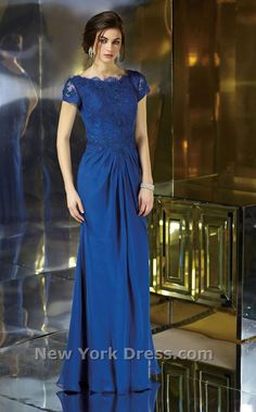 Love this modest formal dress! The royal blue color is wonderful!