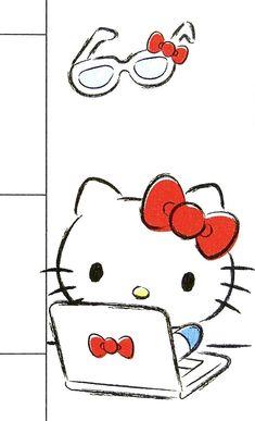 Hello Kitty Iphone Wallpaper, Hello Kitty Backgrounds, Sanrio Wallpaper, Wallpaper Iphone Cute, Cute Wallpapers, Hello Kitty Imagenes, Hello Kitty Themes, Hello Kitty Pictures, Kawaii Doll