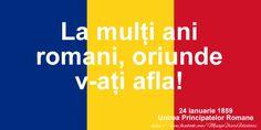 Felicitari de 24 Ianuarie - Traiasca Unirea! 24 ianuarie 1859 - mesajeurarifelicitari.com Logos, Blue, Logo