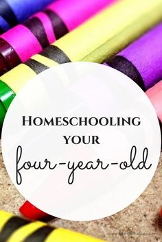 homeschooling your four year old