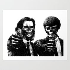 Pulp Fiction Art Print by Motohiro NEZU - $19.99