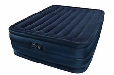 Intex Raised Downy Queen Inflatable Mattress Air Bed Airbed Kit w Pump Camping * You can find more details by visiting the image link.