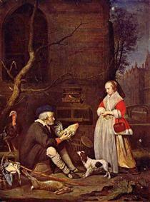 The Poultry Seller - Gabriel Metsu