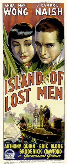 Island of Lost Men, movie poster (1939)  Source: Entering the Movie Theatre Lobby