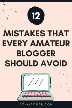 12 Mistakes That Every Amateur Blogger Should Avoid. We discuss the mistakes that amateur bloggers make when they start blogging. By not doing these mistakes you can become a successful blogger. Make Money Blogging, How To Make Money, How To Become, Pinterest Marketing, Social Media Tips, How To Start A Blog, Mistakes, Online Marketing, About Me Blog