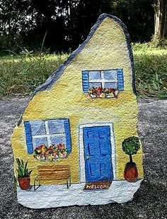 88 Simple Diy Painted Rocks Ideas For In. - 88 Simple Diy Painted Rocks Ideas For Inspiration What a cleaver idea, painting o - Pebble Painting, Pebble Art, Stone Painting, Diy Painting, House Painting, Painted Rocks Craft, Hand Painted Rocks, Painted Houses, Painted Stones