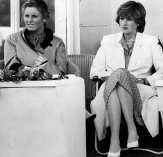 June 28, 1981: Lady Diana Spencer and her friend, Sarah Ferguson watching Prince Charles play polo.