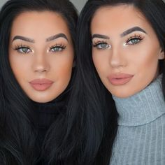 "KLAUDIA BADURA on Instagram: ""Details • Lashes @lillyghalichi @lillylashes in Miami Brows @anastasiabeverlyhills Brow Definer in Ebony Lips @gerardcosmetics in Serenity Foundation @motivescosmetics Highlight @anastasiabeverlyhills Glow kit in That Glow Brushes Used @sigmabeauty #motd #makeup #lashes #lillylashes #twins #baduratwins #browdefiner #abh #mood #anastasiabeverlyhills #doubletrouble"""
