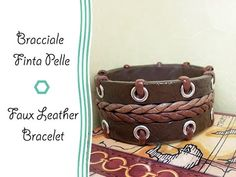 Faux leather bracelet - #Polymer #Clay #Tutorials