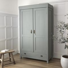 Painted in 'grey teal' by little green paint co.