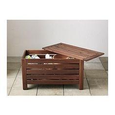 IKEA - ÄPPLARÖ, Bänk med förvaring, utomhus, Perfekt till förvaring av trädgårdsredskap och krukor.För extra hållbarhet, och för att du ska kunna glädja dig åt träets naturliga uttryck, har möbeln förbehandlats med flera lager av halvtransparent trälasyr.