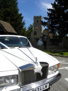 White Rolls Royce ... Wedding ideas for brides, grooms, parents & planners ... https://itunes.apple.com/us/app/the-gold-wedding-planner/id498112599?ls=1=8 ... plus how to organise your entire wedding ... The Gold Wedding Planner iPhone App ♥