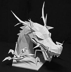 龍のペーパークラフト papercraft animal