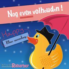 Blue Monday, Rabarber heeft er gelukkig geen last van. Maar voor wie het vandaag moeilijk heeft: Rabarber wenst je een flinke dosis blijdschap toe!