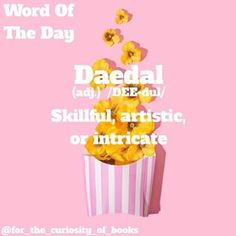 Word Of The Day! • • • #daedul #wordoftheday #forthecuriosityofbooks #words #books #literature #photooftheday #school #definition #instagram