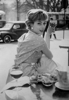"""leeannemontgomery: """"betchawanna: """" Georges Dambier """" Her dots… """" What is it about dots? Why do we love them so much? http://amarriedsissy.blogspot.com"""