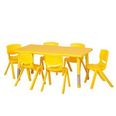 """48"""" Resin Table&6-10"""" Chairs   Honor Roll Childcare Supply"""