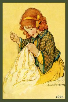 Jessie Willcox Smith Hand-Sewing