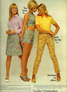 1967. That matching shirt/short combo. Those shoes. Coordinating color pallet. The bob. The bow in the hair. The posing.....ahhh