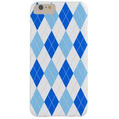 Blue Argyle Barely There iPhone 6 Plus Case  #argyle #iPhone6Plus #posh