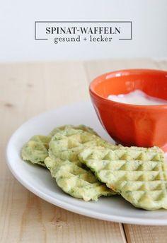 Spinat Waffeln für Baby-Led Weaning, Beikost und Kleinkinder. Einfache Rezepte für den Übergang zum Familienessen. Rezepte für Babys