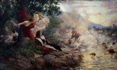 """El sueño de Gundulic)"""", óleo sobre lienzo, 185 x 310 cm., 1894. Colección Galería Moderna (Zagreb)"""
