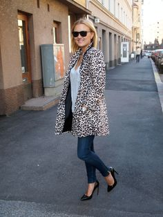 Leopard Coat Leopard Coat, Style Me, Blazer, Chic, Book, Pretty, Jackets, Closet, Outfits