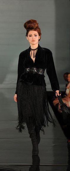 """Dark Dawn"", DC Fashion Week, February 2011  Model: Yaskarita Gia Veksler Photography: Phelan Marc"