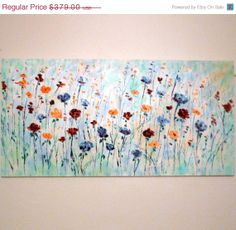 XMas SALE  50 thru 26th Large modern impasto by jeanvadalsmith, $189.50